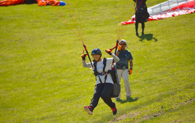 パラグライダー浮遊体験